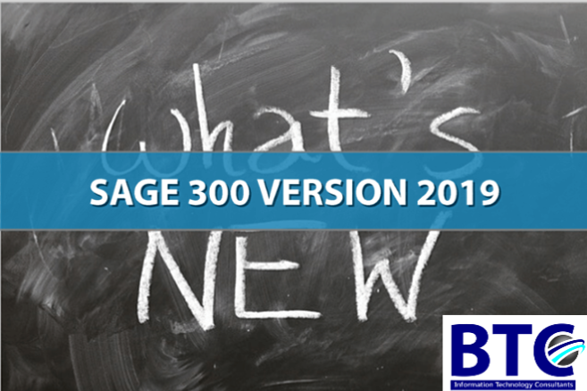 What is new in Sage 300 ERP 2019 UAE?