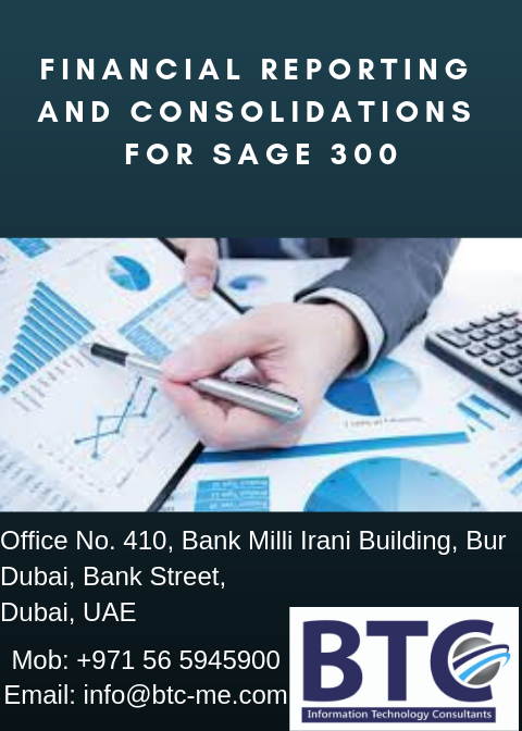 Financial Reporting and Consolidations for Sage 300 In Dubai