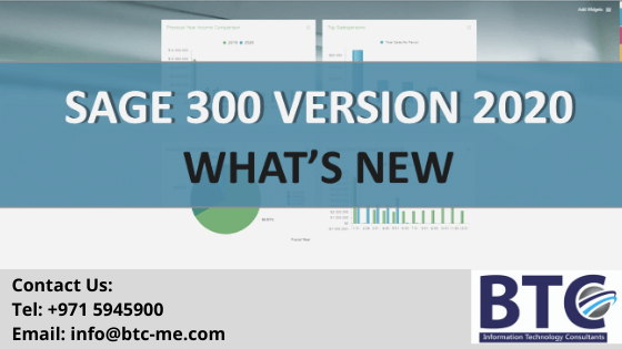 What is new in the latest version of Sage 300 2020| Qatar| UAE