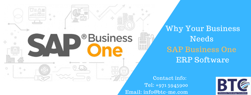 Why Your Business Needs SAP Business One ERP Software | Qatar | UAE