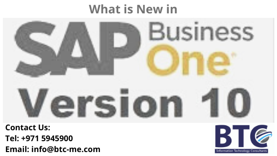 What's New in SAP Business One 10.0|  SAP B1 10 in UAE| SAP B1 10 in Qatar
